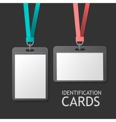 Badge Identification Plastic Id Cards vector image