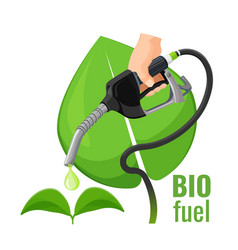 biofuel concept emblem template for gasoline vector image