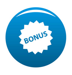bonus sign icon blue vector image