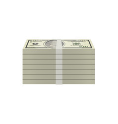 Bundles of dollar banknotes isometric icon vector