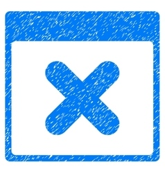 Cancel Calendar Page Grainy Texture Icon vector