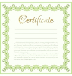 certificate background vector image
