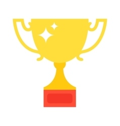 Champion cup icon vector