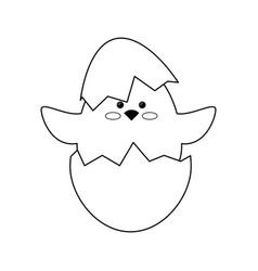 Chick egg shell vector