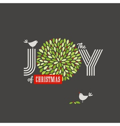 Christmas background with cute birds vector image