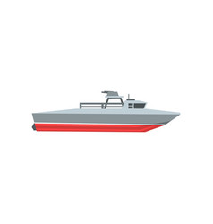 Colorful coast guard cutter navy surveillance vector