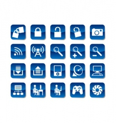 computer and electronic icons vector image