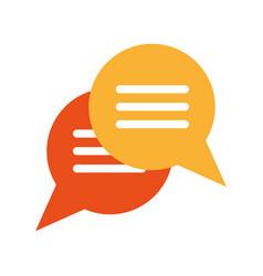 Conversation chat bubbles icon image vector