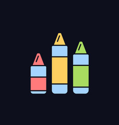 Crayons rgb color icon for dark theme vector