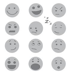 Debossed Faces vector
