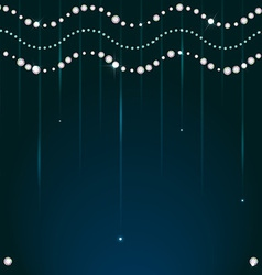 Diamond sparkling beads vector