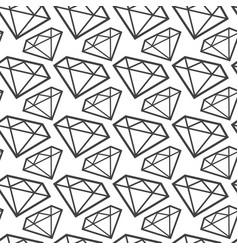 diamonds monochrome seamless pattern web vector image