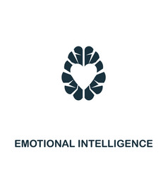 emotional intelligence icon premium style design vector image