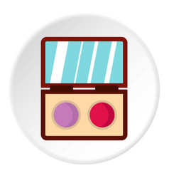 Eye shadow icon circle vector