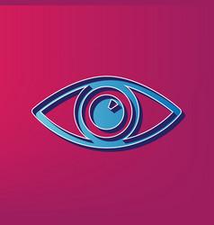 Eye sign blue 3d printed vector