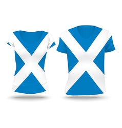 Flag shirt design of Scotland vector image