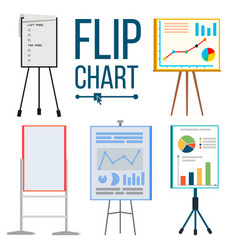flip chart set office whiteboard vector image