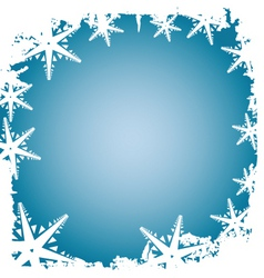 Frosty border vector