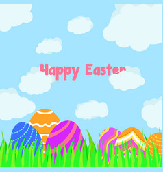 funny and colorful happy easter greeting card vector image