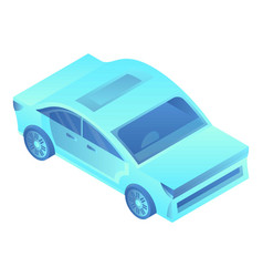 futuristic car icon isometric style vector image