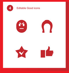 good icons vector image