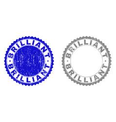 Grunge brilliant scratched watermarks vector