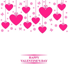 hearts card hang vector image