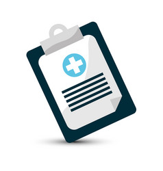 Hospital prescription pad icon vector