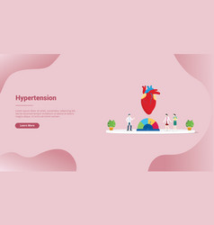 Hypertension blood pressure concept for website vector