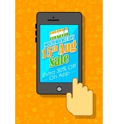 India Independence sale on mobile application vector
