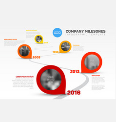 infographic timeline template with pointers vector image