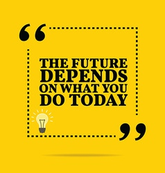 Inspirational motivational quote The future vector image