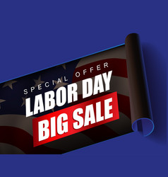 Labor day sale promotion advertising banner vector