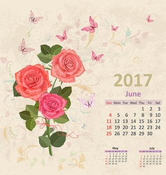 Lovely bouquet of pink roses on grunge background vector