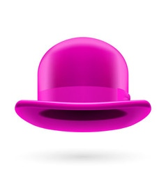 Magenta bowler hat vector image