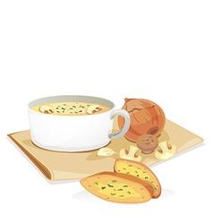 mashroom soup2 vector image