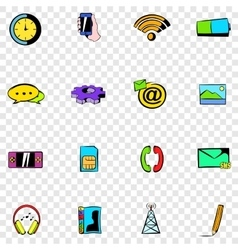 Mobile set icons vector