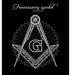 Mystical illuminati brotherhood sign vector