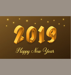 new year 2019 in isometric style vector image