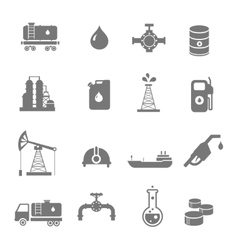 Oil industry gasoline processing symbols icons set vector image