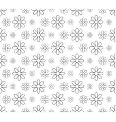 Outline lotus flower pattern seamless backdrop vector