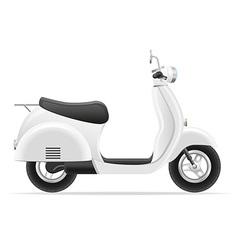 retro scooter 01 vector image