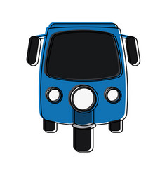 Rickshaw or tuk tuk icon image vector
