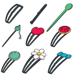set of hairpin vector image