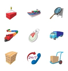 Shipment icons set cartoon style vector image