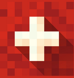 switzerland flag with cross vector image