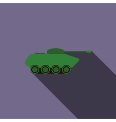 Tank icon in flat style vector