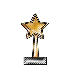 trophy star win image vector image