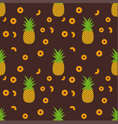 tropical trendy seamless pattern with pineapples vector image