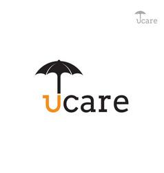 Umbrella care logo vector